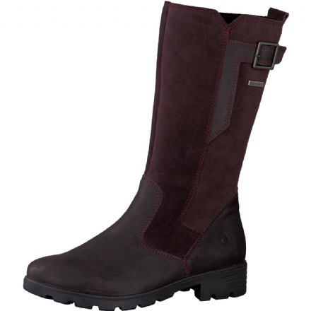 Ricosta SOPHIE Waterproof Leather Buckle Boot (Blackberry)
